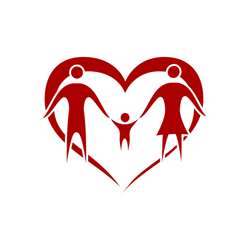 bigstock-family-vector-with-heart-symbo-25125779